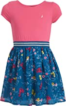 Nautica Vestido Floral de Manga Corta para niña Vestido Cas