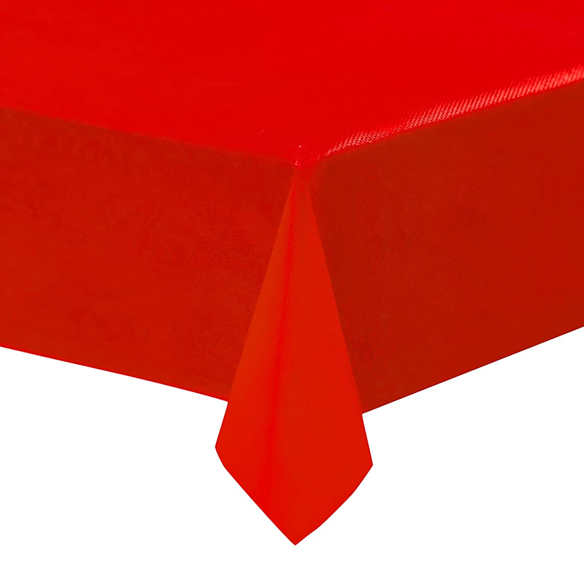 Red Plastic Tablecloths - 12-Pack, 54 x 108 Inches Table Cloths, Rectangular Disposable Table Covers, Fits up to 8-Foot Long, Buffet Banquets or Long Picnic Tables, Party Decoration Supplies, 4.5 x 9