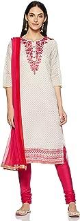 Rangmanch by Pantaloons Women's Cotton Straight Salwar Suit Set