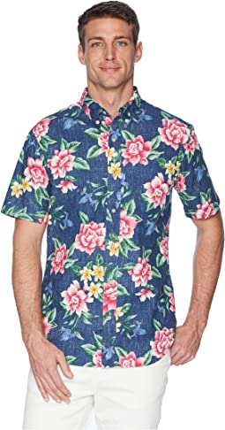 Hou Pua Nui Tailored Hawaiian Shirt