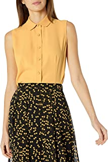 Anne Klein Women's Sleeveless Button Front Blouse