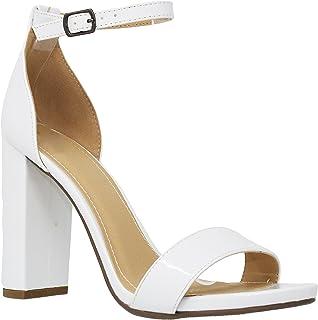 d8f44d29786 MVE Shoes Women s Open Toe Chunky Heel Strappy Heeled Sandal