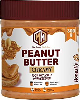 MUCHMORE NUTRITION All Natural Peanut Butter (Creamy) | Unsweetened | 32g Protein | Non GMO | Gluten Free | Cholesterol Fr...