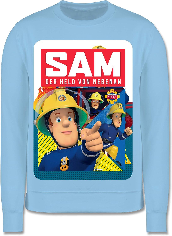 Shirtracer Kinder Pullover Sam der Held von nebenan Feuerwehrmann Sam Jungen