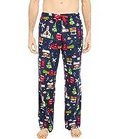 Navy Christmas Village Flannel Pajama Pants