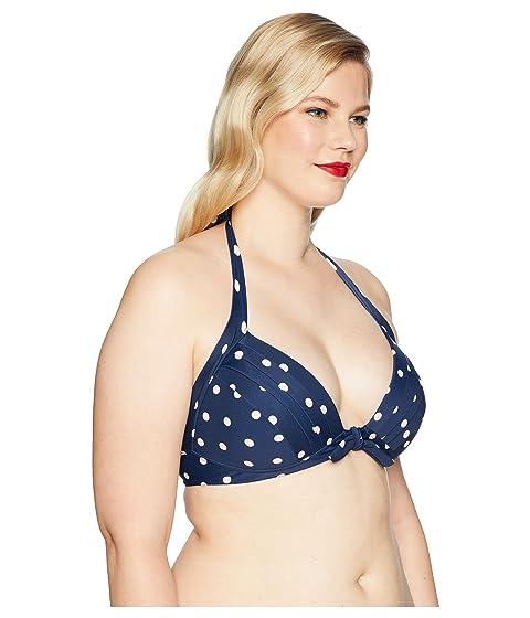 Plus crema Monroe puntos azul Size Vintage Talla única marino OIwqx0xEC