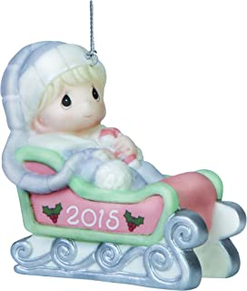 Precious Moments Baby's First Christmas-2015 Boy Ornament