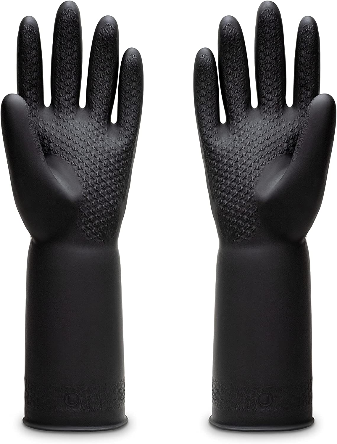 4 years warranty Inventory cleanup selling sale Uxglove Chemical Resistant Latex Gloves Safe Cleaning Protective