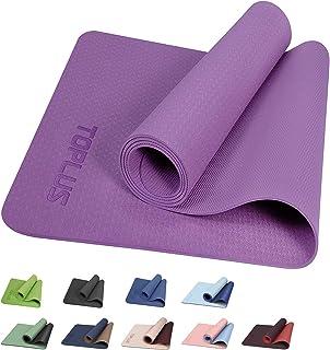 TOPLUS Yogamatta gymnastikmatta träningsmatta träningsmatta med bärrem halkfri bra för nybörjare på yoga för fitness, pila...