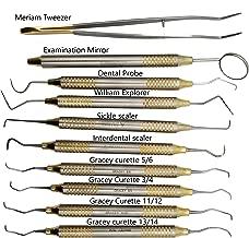 Dental Cleaning Tool kit Set of curettes Dental Hygienist Tool kit ARTMAN Brand by Wise Linkers
