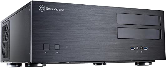 SilverStone Technology SST-GD08B-USA Home Theater Computer Case with Aluminum Front Panel..