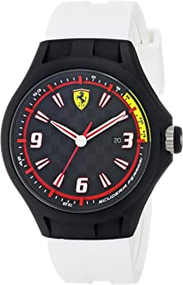 Ferrari Men's 0830004 Analog Display Japanese Quartz White Watch