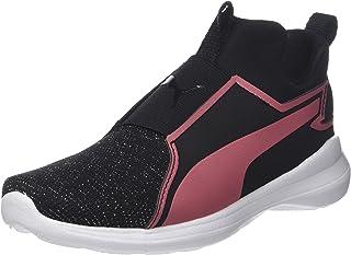 PUMA Juniors Rebel Mid Gleam Ps, Black-Rapture Rose, Sneakers