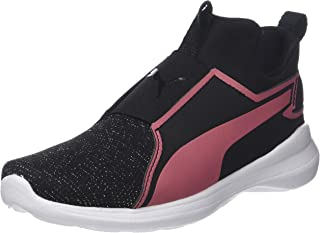 PUMA Juniors Rebel Mid Gleam Ps, Black-Rapture Rose, Sneakers