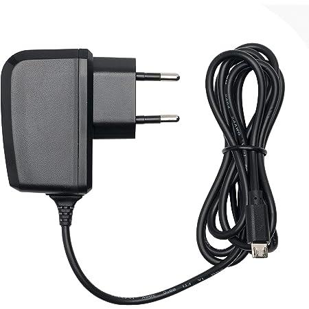 Slabo Caricabatterie Micro USB - 1000mA - per Amazon Fire 7-Tablet | Kindle Paperwhite Caricatore rapido per Caricabatterie da Viaggio per telefoni cellulari - Nero