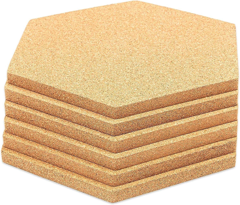 Hexagon Cork Board Tiles 5.9 Max 56% OFF Inches 6-Pack Alternative dealer 7 x