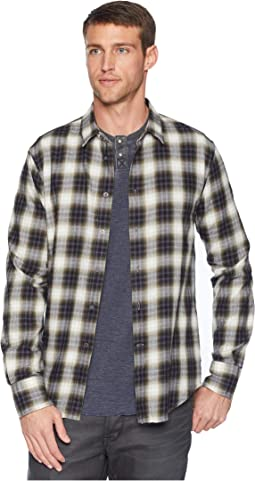 Long Sleeve Button Front Shirt w/ Wire Collar