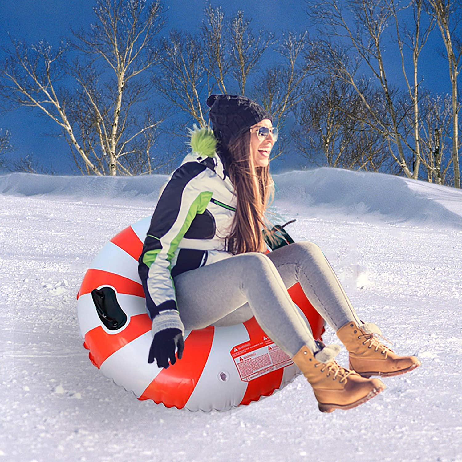 Selling and selling Wociaosmd PVC Snow Sled Tube Heavy and Sleds Kids Cheap sale for Duty