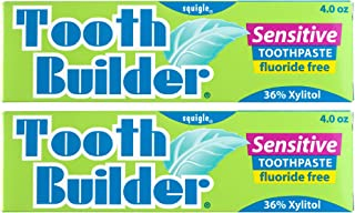 Squigle Tooth Builder Toothpaste (Stops Tooth Sensitivity. Prevents Canker Sores, Mouth Ulcers, Bad Breath, Chapped Lips, Perioral Dermatitis. Soothes and Protects Dry Mouths. No SLS.) - 2 Pack