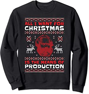 Karl Marx Means of Production Communist Christmas Present Sweatshirt