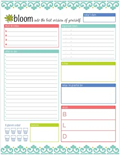 bloom daily planners Daily Planning System Tear Off to Do Pad - Teal - 8.5