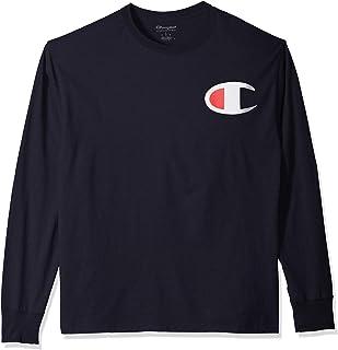 Champion 男式经典针织长袖图案 T 恤