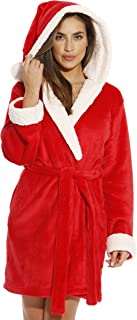 Image of Christmas Santa Hooded Robe for Women - See More Christmas Robes