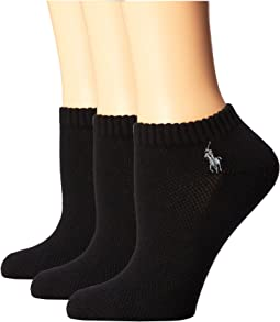 LAUREN Ralph Lauren - Cushion Foot Mesh Top Cotton Low Cut 3 Pack