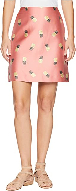 Pineapple Jacquard Skirt
