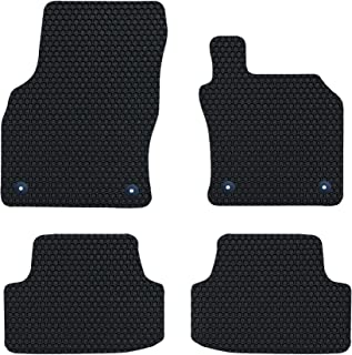 Nicoman HEX-C1008-VW-Golf-MK7-FU Tailored Car Mats, 4-Piece (Full Set) -Black, 2013-2019 VW Golf MK7