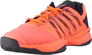 K-Swiss Men`s Ultrashot Tennis Shoes Neon Blaze Black-()