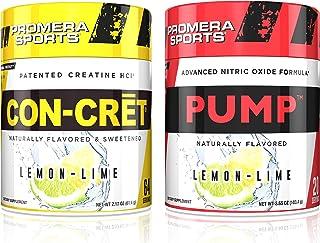 Promera Sports CON-CRET Creatine HCl Bundled with Pump Advanced Nitric Oxide Supplement, Lemon Lime