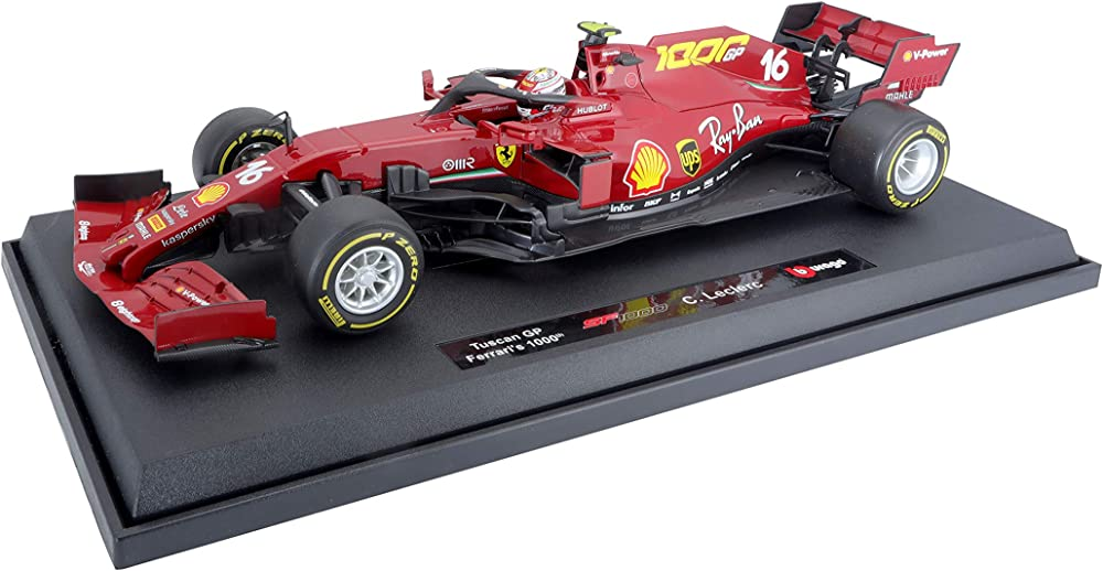 Burago, ferrari sf1000 2020 racing le clerc, 1:18 919822.004