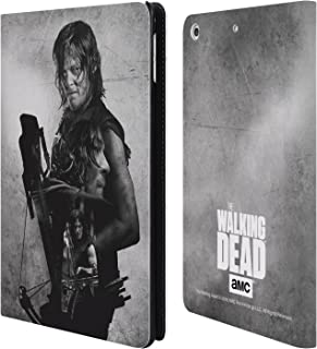 Official AMC The Walking Dead Daryl Double Exposure Leather Book Wallet Case Cover Compatible for iPad Mini 4