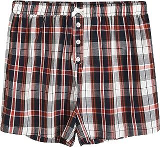 Latuza Women's Sleepwear Cotton Plaid Pajama Boxer Shorts