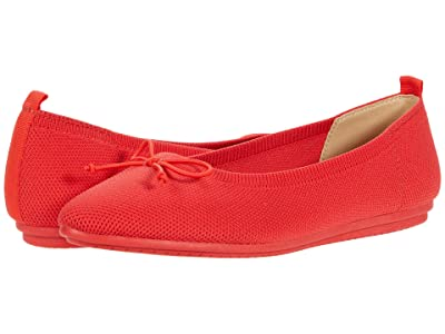 Vince Camuto Flanna Washable Ballet Flat (Coral Red) Women