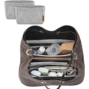 FOREGOER Felt Purse Insert Handbag Organizer Bag in Bag Organizer with Handles