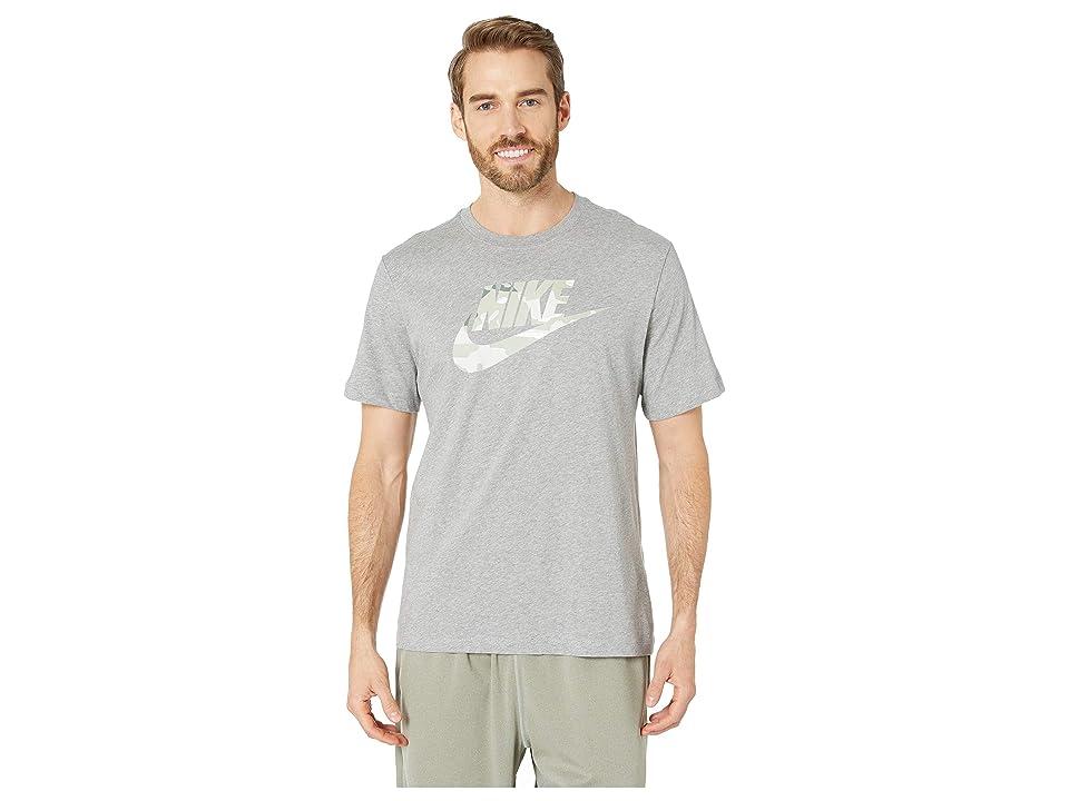 Nike NSW Camo 1 Tee (Dark Grey Heather/Spruce Fog) Men
