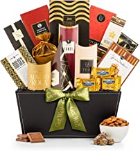 GiftTree Broadway Gourmet Get Well Gift Basket | Ghirardelli Chocolates, Pomegranate Truffles, Popcorn & More. | Send Healing Thoughts