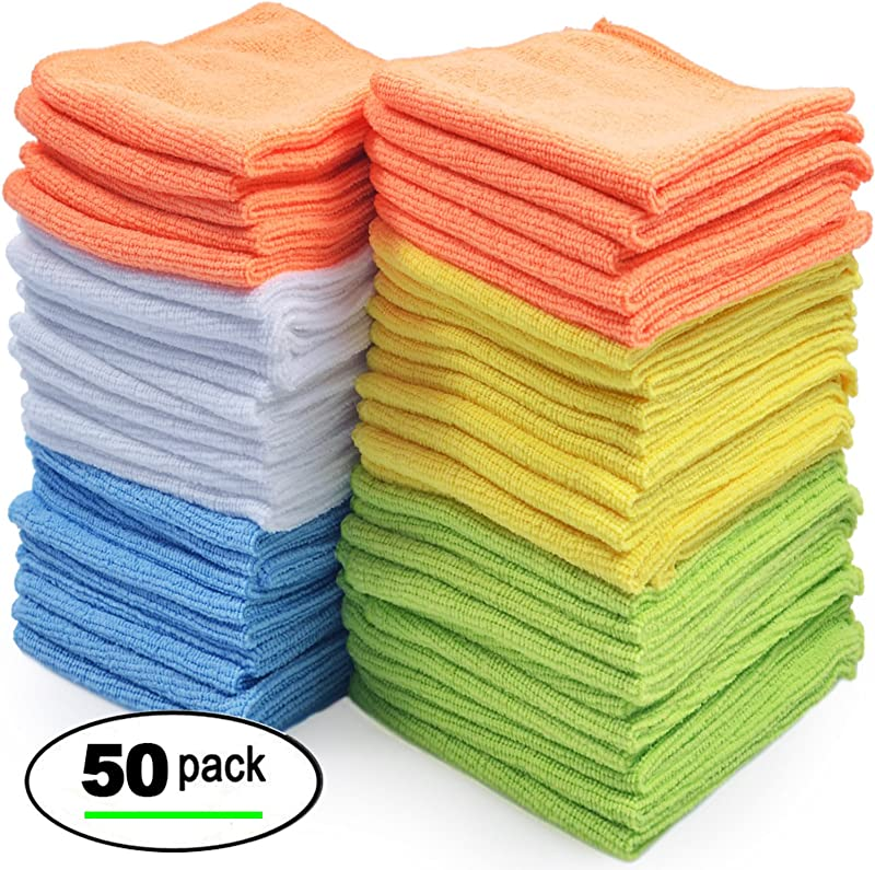 Best Microfiber Cleaning Cloths Pack Of 50 Towels
