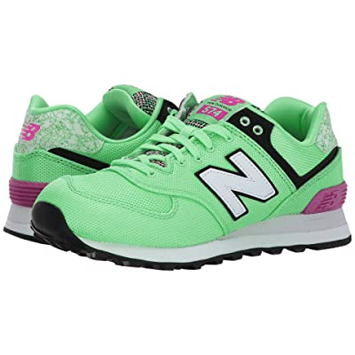 New Balance Classics WL574 Art School (Agave/Poisonberry) Women