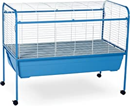 Prevue Pet Jumbo Tubby Rabbit Cage on Stand with Blue Tub