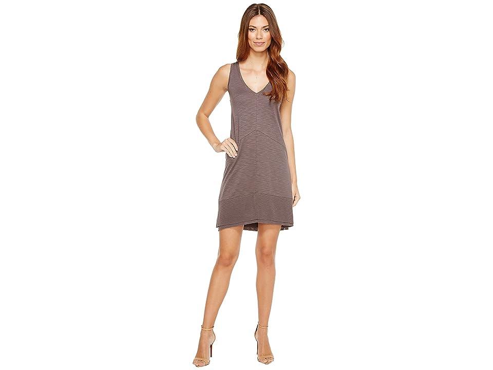Lilla P Ribbed Bottom Dress (Earth) Women