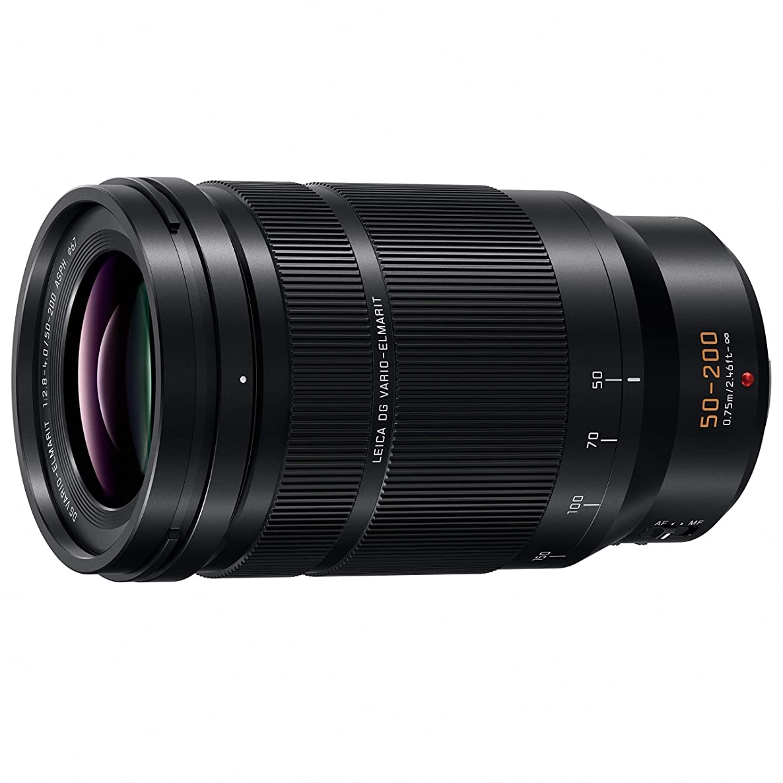 PANASONIC LUMIX Professional 50-200mm Camera Lens, G Leica DG Vario-ELMARIT, F2.8-4.0 ASPH, Dual I.S. 2.0 with Power O.I.S, Mirrorless Micro Four Thirds, H-ES50200 (Black) (Renewed)
