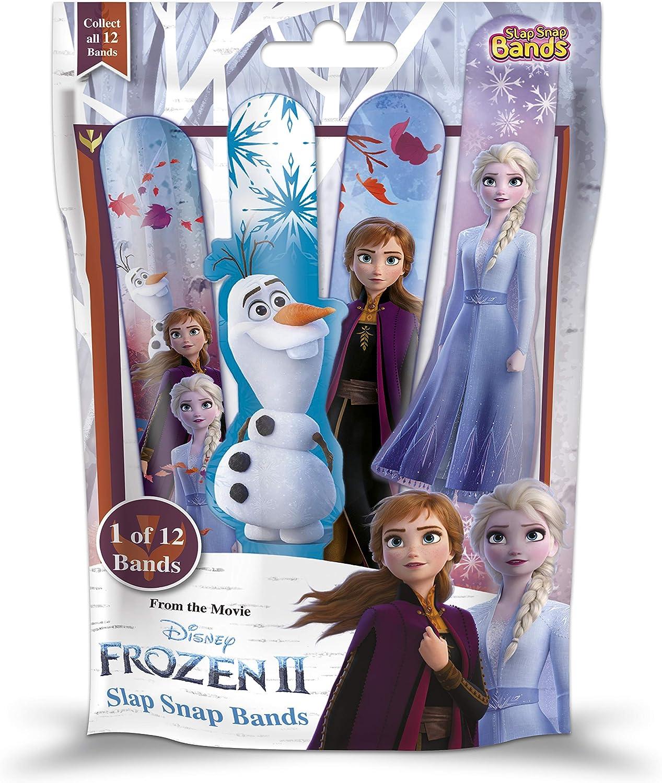 CRAZE 2 Slap SNAP Bands Frozen II 19009 - Pulseras para niña (1 unidad)