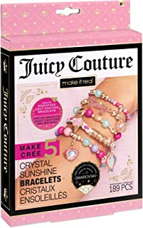 Make It Real - Juicy Couture Mini Crystal Sunshine - DIY Charm Bracelet Making Kit - Friendship Bracelet Kit with Swarovsk...