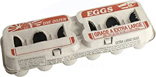 Printed Natural Pulp Extra Large Egg Cartons (Holds 1 Dozen Eggs) (25 Cartons)