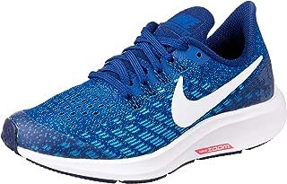 Nike Australia Air Zoom Pegasus 35 Boys Running Shoes, Black/White-Burgundy Ash-Lime Blast