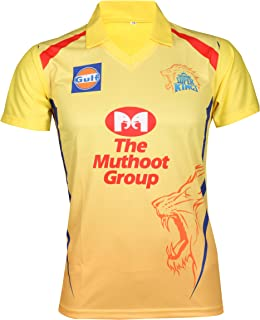 KD Cricket IPL Jersey Supporter Jersey T-Shirt 2019 CSK with Dhoni 7 Print