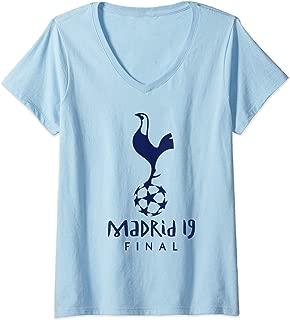 Womens Spurs Soccer Jersey Tottenham European Gift V-Neck T-Shirt